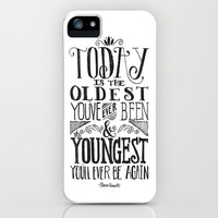 Live Today iPhone & iPod Case by Pink Berry Pattern