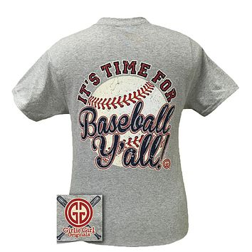 SALE Girlie Girl Originals Its Time for Baseball Y'all Sports Bright T Shirt