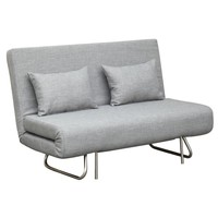 Fine Mod Imports Sabatino Loveseat Sofa Bed, Gray