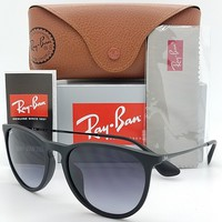 NEW Rayban Erika Sunglasses RB4171F 622/8G 54 Black Grey Gradient 4171 AUTHENTIC