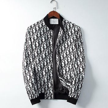Dior Fashion Casual Loose Hooded Cardigan Jacket Coat