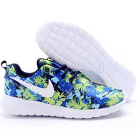 NIKE Women Men Running Sport Casual Shoes Sneakers Blue green print