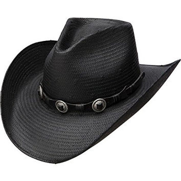 Charlie 1 Horse Women's The Shantung Hat with Antique Concho Band, Black, Medium
