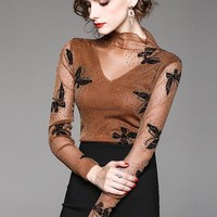 Butterfly Mesh Top