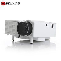 """Proyector Full HD 60"""" Portable mini LED Projector Cinema Theater Home Video Support PC Laptop VGA for office tv home"""