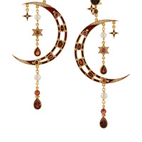 Percossi Papi - Diego gold-plated multi-stone earrings