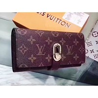 LV Louis Vuitton New fashion wild personality multi-function clutch wallet