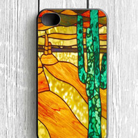 Cactus Stained Glass iPhone 4 Case