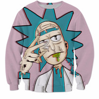 Cartoon Rick and Morty Sweatshirts