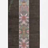 faded table runner
