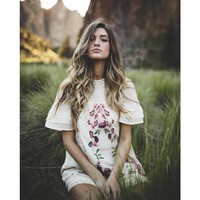 Floral Embroidery Cotton Summer Dress