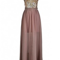 Lily Boutique Pink Beaded Maxi Dress, Dusty Pink Embellished Maxi Dress, Pink Sequin maxi Dress, Pink and Gold Sequin Dress, Pink and Gold Dress, Pink and Gold Sequin Open Back Maxi Dress, Pink and Gold Open Back Maxi Dress, Pink and Gold Prom Dress, Pink