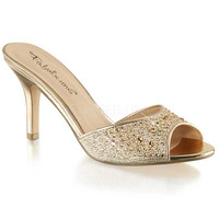 Fabulicious Gold Sparkle Lucy Sandals
