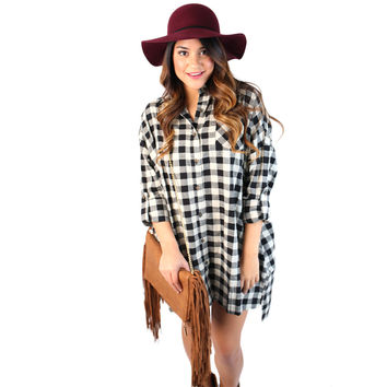 Check Her Out Tunic White