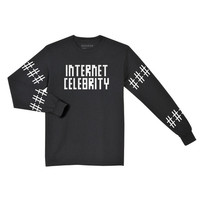 Internet Celebrity L/S Tee - Black - Reason Clothing