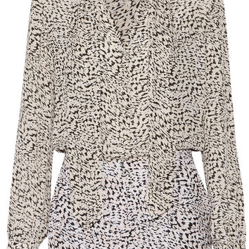 Cecilia leopard-print silk-crepe playsuit   L'Agence   CA   THE OUTNET
