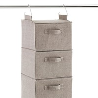 Grey 3- and 6-Compartment Hanging Sweater Organizer Drawer