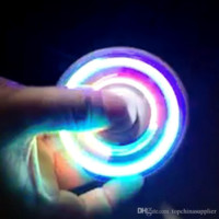 Best LED Fidget Spinner with Power Switch Triangle Finger Spinning Decompression Fingers with Cool Flash Mode LED Light Hand Finger Spinner