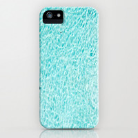 Blue Water iPhone Case - pool light blues clear summer fun apple slim fit hard plastic unique splash mens girls 5 5s 4s FREE shipping to USA