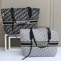Christian Dior New Products Fully Printed Embroidered Letters Ladies Shopping Handbag Shoulder Bag-10