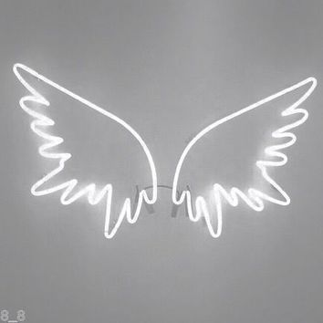 Neon Light Sign New Angel Wings Wall Home Decor Handcrafted Real GlassNeon Sign