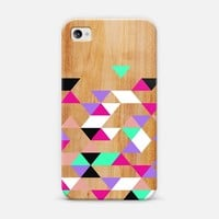 Geometric Pink Polygons iPhone 4/4S case by House of Jennifer | Casetify