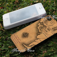 Map of Middle Earth lotr Customized cellular case for iPhone 4/4S, iPhone 5/5S/5C, Samsung Galaxy S3 and S4, ipod 4 and ipod 5