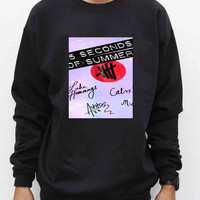 5sos logo signature Sweater for Man and Woman, S / M / L / XL / 2XL *AA*