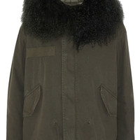 MR & MRS ITALY - Shearling-trimmed cotton-canvas parka
