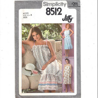 Simplicity 8512 Pattern for Misses' Jiffy Pullover Sundress, Tie Belt, Size Petite 6 to 8, From 1977, Vintage Pattern, Vintage Home Sewing