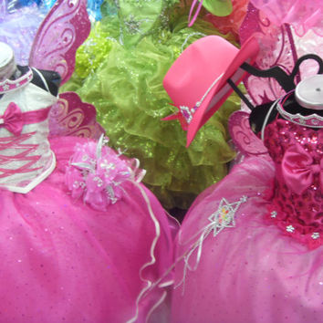 Barbie The Princess and the Popstar Tori costume dress-up dress formal party national glitz pageant pink white graduation gown flower girl