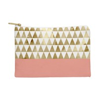 Georgiana Paraschiv Gold Triangles Pouch