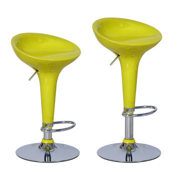 Bensbyn Yellow Modern Bar Stools (Set of two)