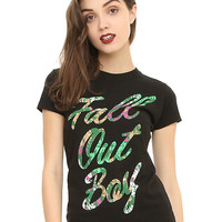 Fall Out Boy Tropical Logo Girls T-Shirt
