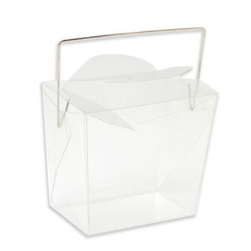 Clear Acetate Chinese Take-Out Boxes: 24-Piece Set