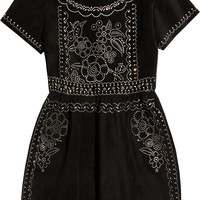 Valentino - Studded suede mini dress