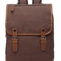 Kenox Vintage College Backpack School Bookbag Canvas Laptop Backpack