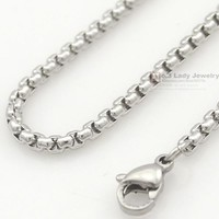 Silver Stainless Steel Chain  Necklace + FREE SHIPPING
