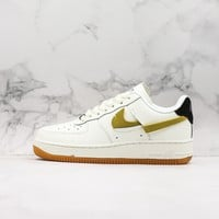 Nike Air Force 1 Inside Out White/ Yellow Black Shoes - Best Online Sale