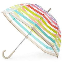 Clear Umbrella in Multi Stripes by Kate Spade New York