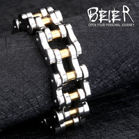 High Quality Man's Bicycle Bike Black Motorcycle Chain Bracelet  For Men 316L Stainless Steel Jewelry