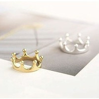 R025 Crown Rings Fashion Jewelry For Women Gold Silver Plated anillos For Wedding Engagement HOT Sale 2017