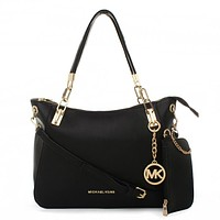 MK Women Shopping Fashion Leather Handbag Tote Shoulder Bag Wallet Purse Set Two-Piece