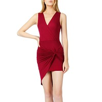 Lightweight Side Draped Bodycon Dress with Stretch (CLEARANCE) (CLEARANCE)