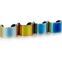Maison Margiela - Set of four PVD-plated rings