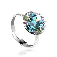 Bubbling Pop Blue Ring with Swarovski Style