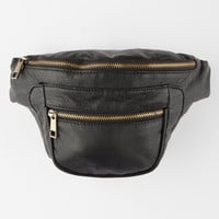 Under One Sky Faux Leather Fanny Pack Black One Size For Women 24920610001