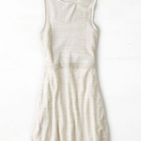 AEO Women's Mixed Knit Fit & Flare Dress