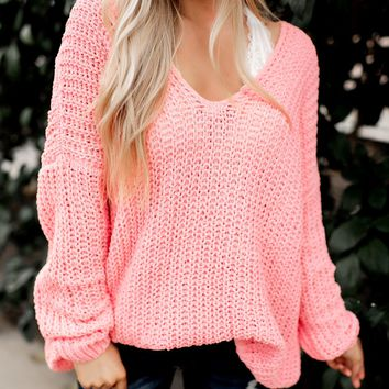 Reasons To Relax Sweater (Coral)