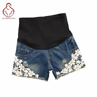 2017 pregnant women, new shorts Jeans Maternity Denim Short Summer Shorts For Pregnant Women Gravidas Clothing Pregnant Clothes